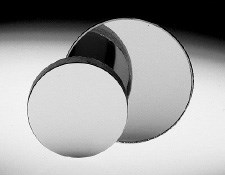 27mm Dia. x 45mm FL Concave Mirror, Grade 2, Double Sided
