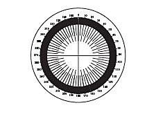 26mm Dia., Metric/ Degrees Protractor, Contact Reticle