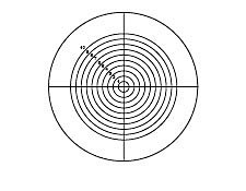 34.70mm Dia., Metric Circle Crosshair, Contact Reticle