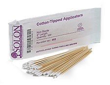 "6"" Length Box (10 Bags), Cotton-Tipped Swabs"