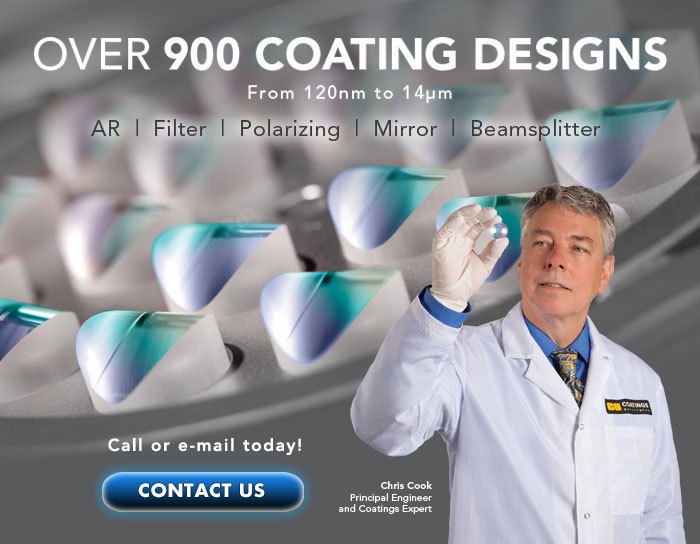 Over 900 Optical Coating Designs from 120nm to 14μm