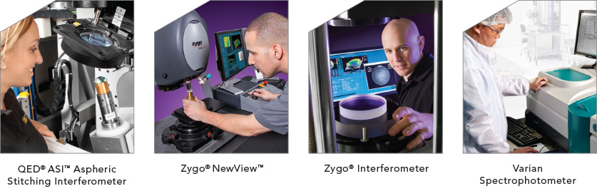 QES ASI Aspheric Stitching Interferometer, Zygo NewView, Zygo Interferometer, and Varian Spectrophotometer Quality and Metrology equipment
